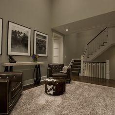 Main areas - grant beige benjamin moore. Nice steps, large prints..