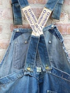 Vtg 1930s Depression OshKosh B'Gosh Bib Overalls Antique WorkWear Denim Jeans | eBay