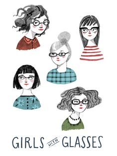 Abigail Halpin Girls with Glasses illustration