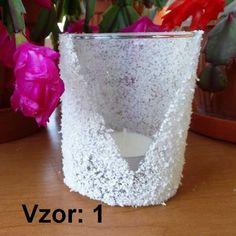 Svietnik sklenený - Sviečka - S čajovou sviečkou (plus 0,10€), Vzor - Vzor 1