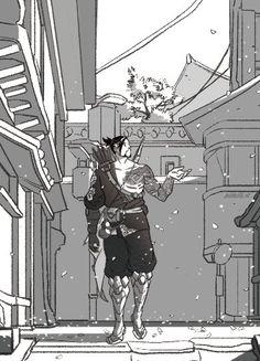 Twitter Overwatch Hanzo, Widowmaker, Anime Guys, Manga Anime, Shimada Brothers, Genji And Hanzo, Hanzo Shimada, Overwatch Drawings, Pretty Art