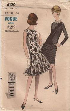 Vogue 6120 A - Vintage Sewing Patterns