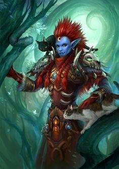 Portrait of Hitotsuki - World of Warcraft Troll Druid | sandara on DeviantArt