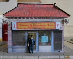 Chinese Restaurant Paper Model - Improved And Assembled by Robert Quebec
