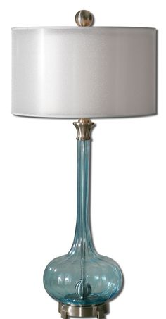 Junelle Blue Glass Table Lamp