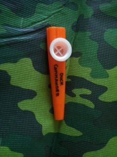 """Kazoos. Wrote Duck Commander on them for """"Duck Calls"""". Duck Dynasty birthday party"""