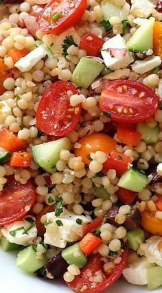 Israeli Couscous Salad with Summer Vegetables