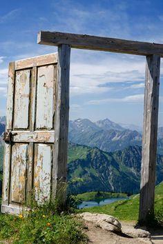 A doorway to the mountains, Lake Seealpsee, Nebelhorn, Oberstdorf, Allgäu, Bavaria, Germany | by Dominic Walter on 500px