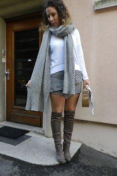 Dernier look outfit tendance avec des cuissardes et une jupe vichy ! #mode  https: