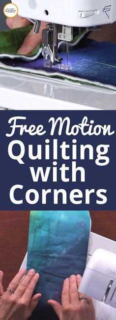 When it comes to free motion quilting, being in constant motion is the general practice. In this video, learn how to master free motion quilting with corners by learning when and how to stop your hands while quilting. Heather Thomas shows you how.