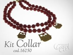 Como hacer Kit 16250 Kit collar coral buhos x und