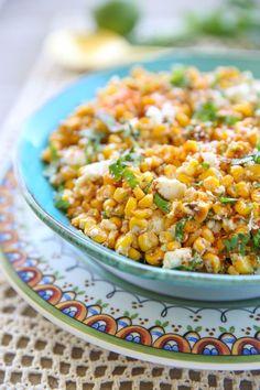 Corn salad mexican corn casserole, mexican street corn salad, m Fresh Corn Salad, Corn Salads, Summer Corn Salad, Mexican Appetizers, Mexican Food Recipes, Mexican Dishes, Mexican Corn Casserole, Mexican Fresh, Mexican Street Corn Salad