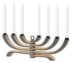 Nordic Light Candelabra in grey- by Jonas Grundell