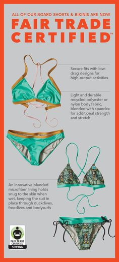 16a2162f2e Innovative bikinis from an innovative source. Fair Trade Certified sewing