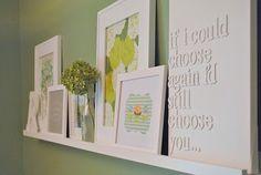 Homemade Word Art - like this shelf concept  more blue