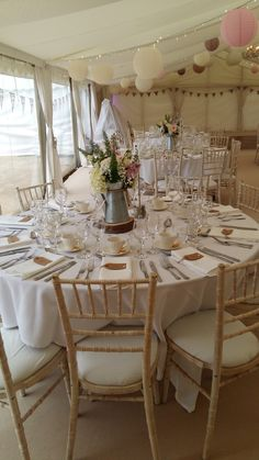 Pretty summer marquee styling