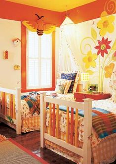 Twins on each side... A Bug Inspired Room for Kids