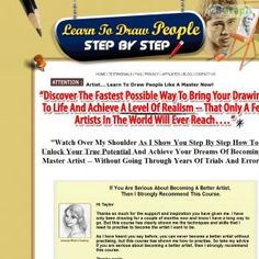 Highest Paid Art Product Ever! Easily Earn Up To $74 P/sale! #1 On CB Since Launch! Professionally Written Copy, Killer Upsell, Insane Conversions (3%+)! Completely Untapped Market! Affiliate Resources Http://www.drawpeoplestepbystep.com/affiliates.html See more! : http://get-now.natantoday.com/lp.php?target=taylorroy1
