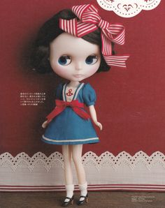 Kenner Blythe Doll 1 pattern 2 dresses cute Sailor & bear mini dress 22cm sewing crafts pdf E PATTERN in Japanese. $2.50, via Etsy.