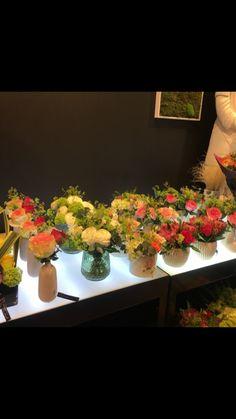 Compositions florales  Présentation magasin
