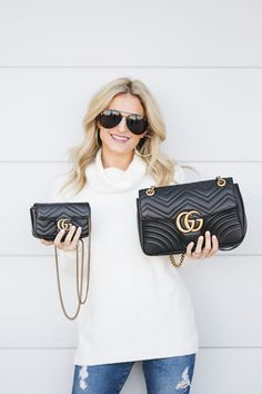 How the Gucci Marmont Bags Hold Up & What Fits Inside Gucci Purses, Gucci Handbags, Gucci Bags, Designer Handbags, Ladies Handbags, Gucci Gucci, Gucci Shoes, Designer Bags, Luxury Handbags