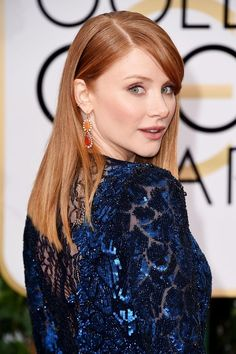 Bryce Dallas Howard put the spotlight on her gorgeous red locks with a stick-straight, low-maintenance cut by Jenny Cho for Suave