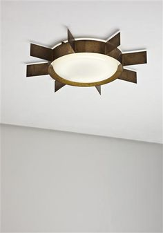 Gio Ponti, Brass Sole Ceiling Light for Arredoluce, 1950s.