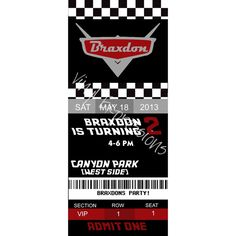 Cars Invite from Vinyl Expressions for $10.00