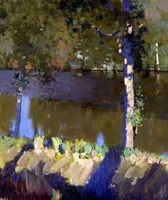 Лесное озеро - Бато Дугаржапов - Картины и другие произведения изобразительного искусства