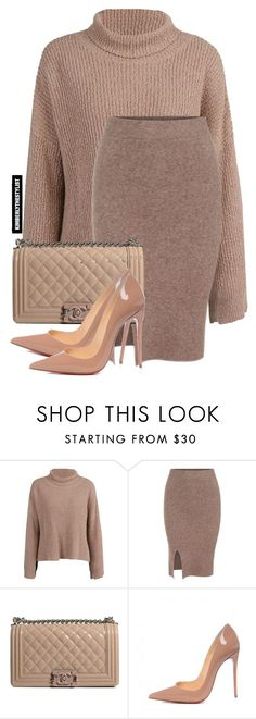 """Untitled #2108"" by kimberlythestylist ❤ liked on Polyvore featuring Chanel and Christian Louboutin"