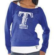 #MLBShop.com - #MLBShop.com Texas Rangers Womens Holy Long Sleeve T-Shirt and Tank - Royal Blue - AdoreWe.com