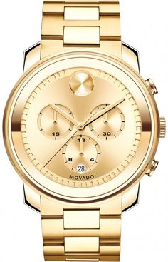 WATCH IT! Movado Bold 3600278 - I like Gold !! Who Doesn't.