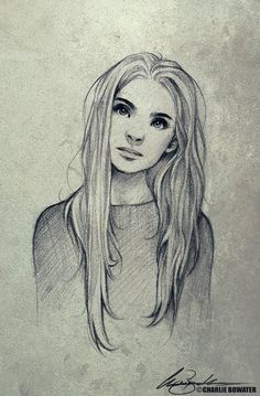 Charlie Bowater ...good reference for straight hair texture drawing.