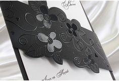 Faire Part Mariage Noir- #Carte #mariage #noir et #blanc http://www.tour-babel.com/faire-part-mariage/faire-part-noir-blanc-rouge.html