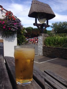 Frozen cider at The Thatch