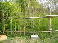 diy fence... nice for in the garden and by the berries