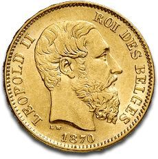 The 20 Francs Belges Gold Coins Are Historic Minted In Nineth Belgium Government