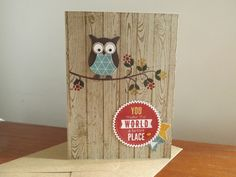 Stamping Every Day: More Flower Patch and an Owl Card.