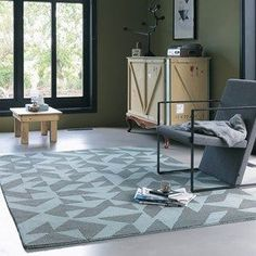 Nova Origami Rugs 89005 in Black and Cream by Brink and Campman - Free UK Delivery - The Rug Seller