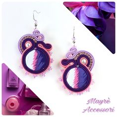 Un preferito personale dal mio negozio Etsy https://www.etsy.com/it/listing/509912940/soutache-earrings-orecchini-in-soutache