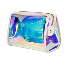 Andear Women s PVC Clear Hologram Transparent Clutch MakeUp Purse Bag for  Girls Hologram 17c1b1d73f54a