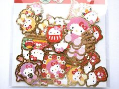Hello Kitty  Stickers  New Year  Chiyogami by FromJapanWithLove
