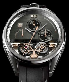 TAG Heuer's MikropendulumS - The fastest movement in the world. Regulated by 2 Tourbillon which replace the usual hair spring with magnets. Only £280'000 !