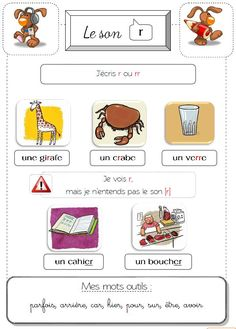 Cahier des sons - La classe de Lòrien French Worksheets, Teaching French, Teaching Materials, Activities For Kids, Literacy, Sons, Study, Learning French, French Tips