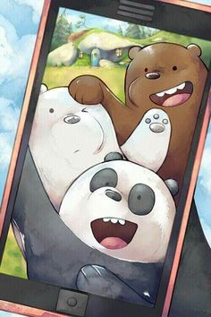 Pardo,panda y polar ❤ Cartoon Wallpaper Iphone, Disney Phone Wallpaper, Bear Wallpaper, Kawaii Wallpaper, Cute Wallpaper Backgrounds, We Bare Bears Wallpapers, Panda Wallpapers, Cute Cartoon Wallpapers, Ice Bear We Bare Bears