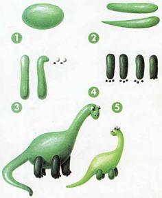 Пластилиновый динозавр
