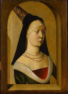 """Portrait of a Woman""  --  Circa 1475-80  --  Either Netherlandish or French  --  Oak on panel  --  The Metropolitan Museum of Art."