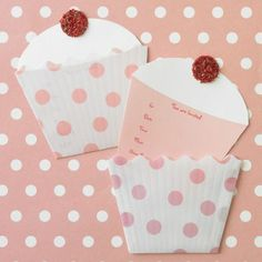 Cute Cupcake Invitations