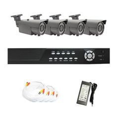 """Complete 4 Channel CCTV DVR (500G HDD) Surveillance Security Camera System Package with (4) Pack of 600TVL 1/3"""" Sony CCD Waterproof Outdoor Camera by Gw. $765.00. Package Includes:      GW2544SV-N DVR with 500G HDD;     Remote Control and mouse ;     4 x GW707H -1/3"""" SONY CCD cameras;     1 x GW125CAW: 125 feet pre-made cable BNC;     1 x GW100CAW: 100 feet pre-made cable BNC;       2 x GW60CAW: 60 feet pre-made cable BNC;     1 x GW12V7A: 12V7A Power Supply for Securit..."""
