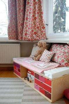 Could I build 2 of these (1 pink,1 blue) under the countertop in the sewing room for the grandkids?